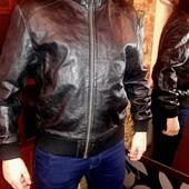 кожаная курточка в отличном состоянии