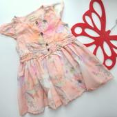 Платье с бабочками Next(6-9 мес)