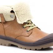 Утепленные женские ботинки с прорезиненным носком, р.36,37,38,39,40,41