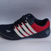 Мужские кроссовки сетка копия Adidas 41-46р. синие.
