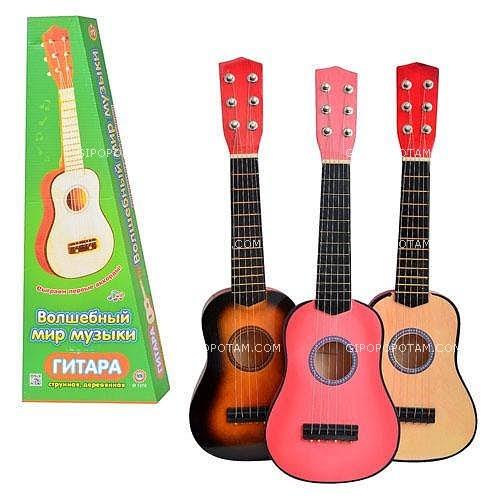 Гитара m 1370 струны, запасная струна, медиатор, 3 цвета фото №1