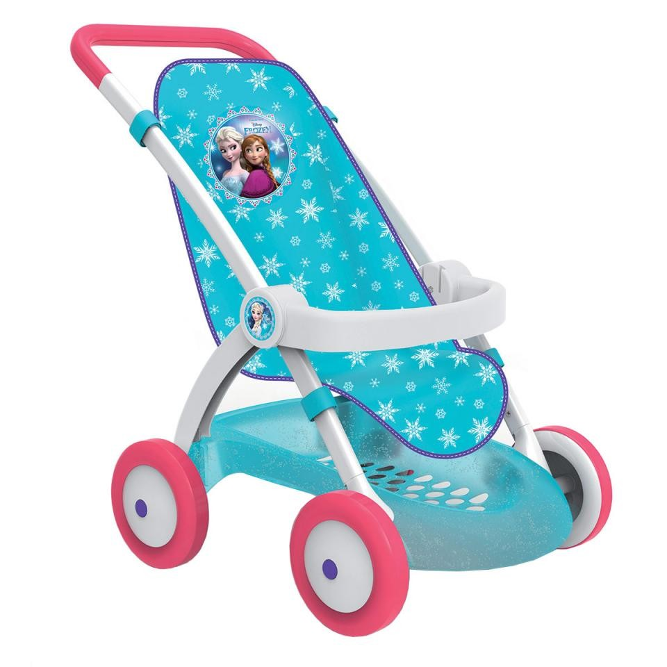 Smoby коляска прогулочная для куклы холодное сердце frozen 254045 фото №1