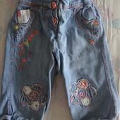 продам капри джинсовые девочке 3-4 года 98-104 рост