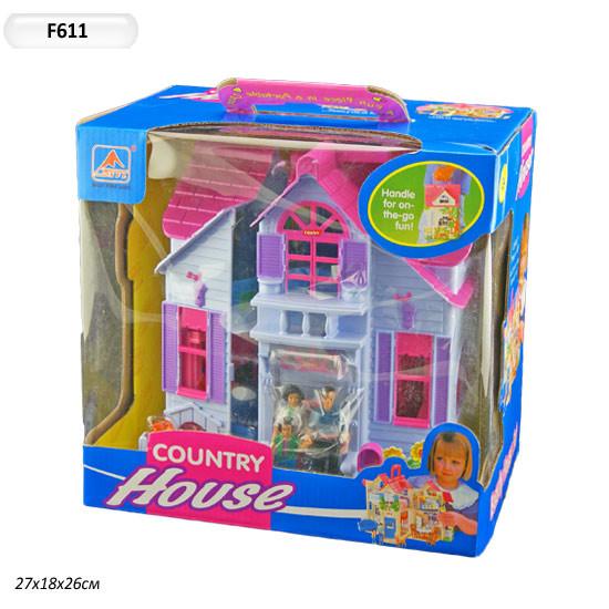 Домики для кукол f611  с фигурками и мебелью фото №1