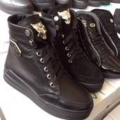 Демисезонные ботинки Кожа и замш