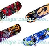 Скейтборд спортивный Profi 0321, 6 видов: алюминиевая подвескаСкейтборд спортивный Profi 0321, 6 вид