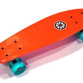 Скейтборд Vibro flach-22 Explore (Amigo Sport) светящиеся колеса светящиеся