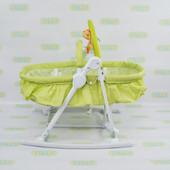 Детский шезлонг-люлька 3в1 bt-bb-0003,Green