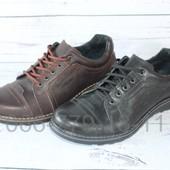Кожаные мужские туфли комфорт, 2 цвета