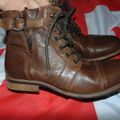 Брендовие стильние фирменние кожание ботинки сапоги River Island (Ривер Айланд).43 .