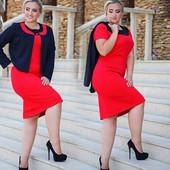 Костюм Платье +Пиджак в расцветках. Размеры: 50, 52, 54, 56 (1б