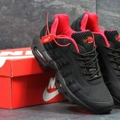 Кроссовки мужские Nike Air Max 95 black/red, топ качество