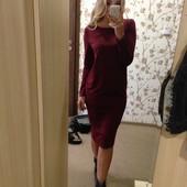 Свободное платье-миди 3 цвета размеры 48, 50 и 52