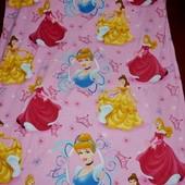Качественный пододеяльник полуторная постель постельное белье Принцессы Дисней Disney