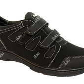 Мужские черный демисезонные кроссовки (Ю-33)