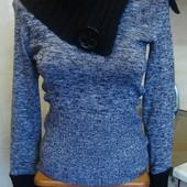 кофта черно-серая Jane norman Размер S 65%акрил, 30%полиэстер, 5%эластан