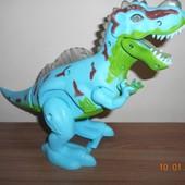 Динозавр на батарейках, свет, звук, ходит, размер 29 х 19,5 х 10 см