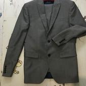 Фирменный классический костюм, слим, next