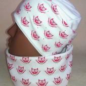 Очаровательный комплект: шапка+снуд для девочек