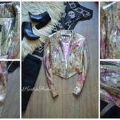 Шикарный пиджак-золотая пыльца в пайетках от Next,р-р М 1