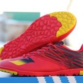 Кроссовки красные и синие мужские под Adidas Messi 15.3