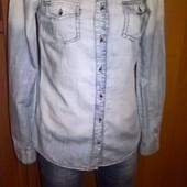 Джинсовая рубашка Clockhouse размер XS
