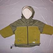 р. 86-92, тепленькая демисезонная куртка, , Starlet, внутри полностью на флисе