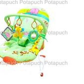 Кресло Шезлонг-качалка детская с погремушками 002-А