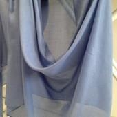 Голубой Потрясающий, стильный большой палантин-шарф