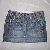 XS-S, поб 44-46, юбка джинсовая Next  очень стильная