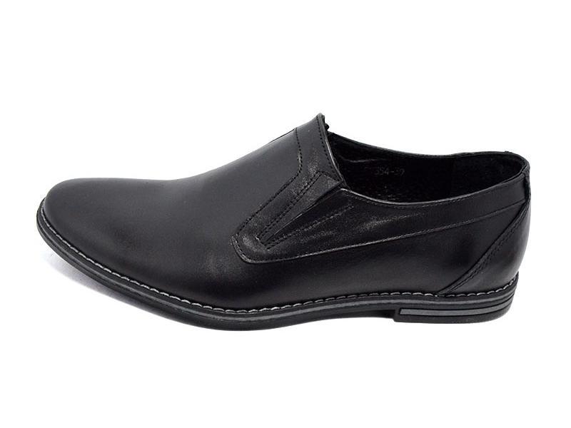 Распродажа!!! Туфли мужские кожаные Van Kristi 354 черные (реплика) фото №1