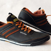 Кожаные спортивные туфли. Размер 40
