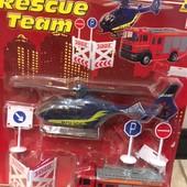 Игровой мини-набор Dickie Toys Спасательная служба с вертолетом и пожарной машиной (331 5386)