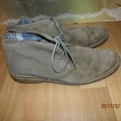 (№і505)замшевые туфли-ботинки 44-45 р UK 10