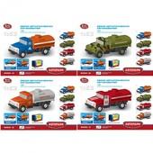 Модель грузовик Play smart 6520-a/b/c/d Автопарк металлическая инерционная