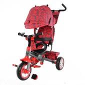 Детский трёхколесный велосипед с родительской ручкой, красный