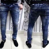 Джинсы Mario Cavalli(Турция)ткань стрейч ,зауженные размеры 29-38
