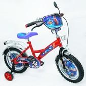 """Велосипед Tурбо 14"""", красный с голубым"""
