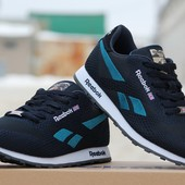 Кроссовки Reebok темно сині з голубим