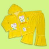 Велюровый костюм для девочки с Китти