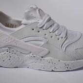 Кроссовки Nike Huarache white найк хуарачи белые