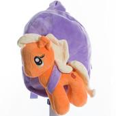 Детский плюшевый рюкзачок игрушка My little Pony