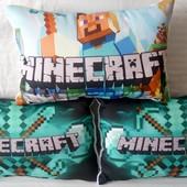 детская декоративная подушка майнкрафт 3 D картинка