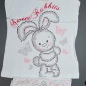 Комплект 8-9 лет зайка трусики майка Донелла Donella