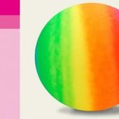 Мяч резиновый  цвет радуга, 45см 350г ND104