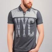 Поло мужское с принтом, футболка 222F058