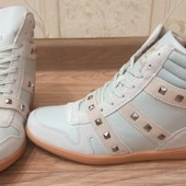 Модные демисезонные ботинки-сникерсы, р.36-40, стелька 23,5-25,5 см.
