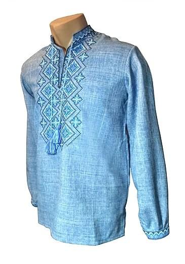 Рубашка, сорочка, вишиванка джинс фото №1