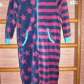 Пижама флисовая, мальчику на 7-8 лет. рост до 128 см, пушистый флис