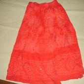 Фирменная хлопок юбка в пол коралл на 46-50 размер